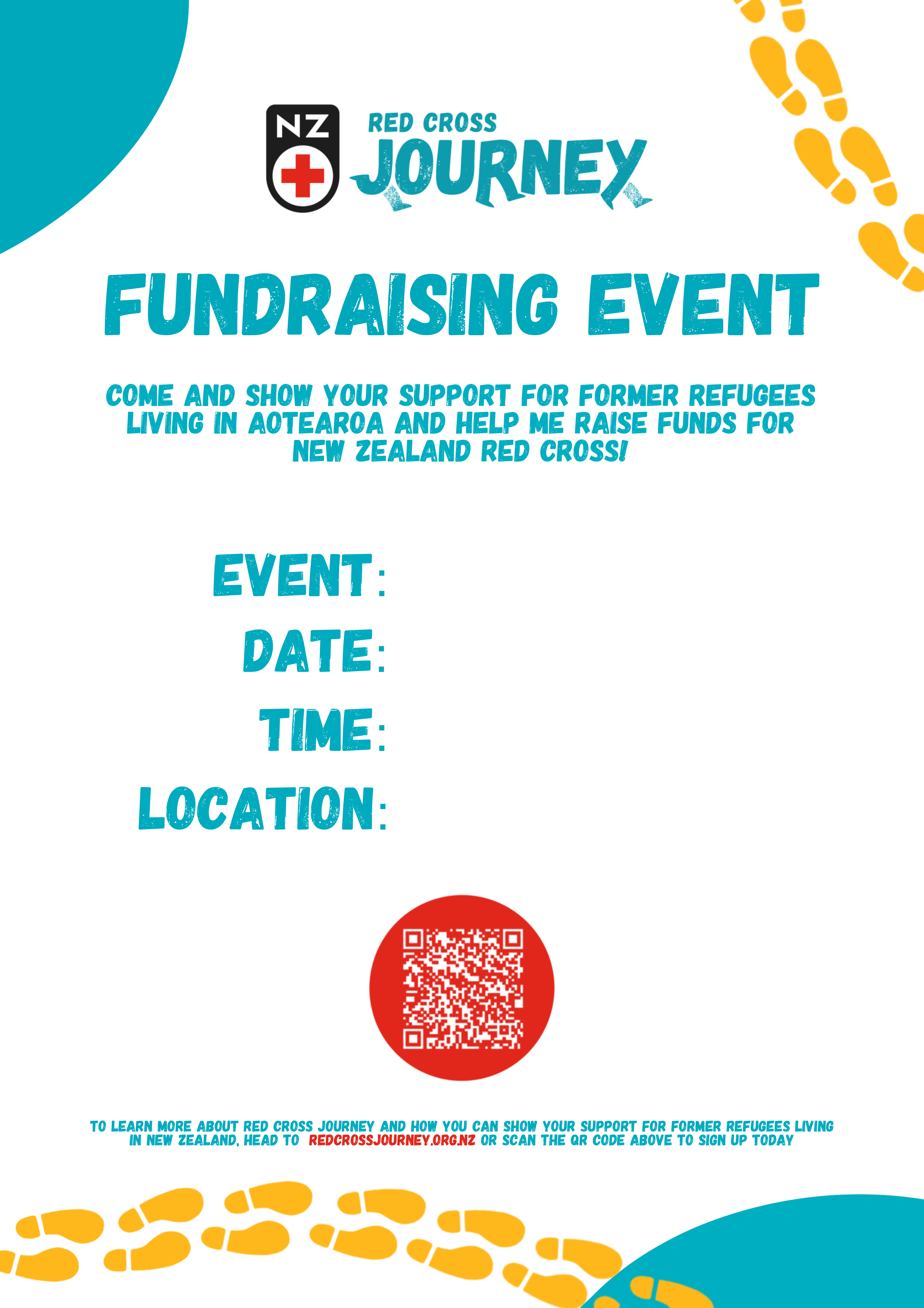 Poster for your fundraising event
